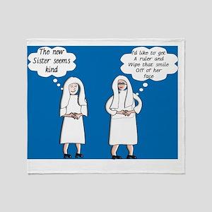 Two Sisters Rule Throw Blanket