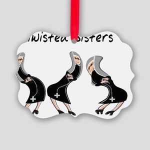Twisted Sisters Picture Ornament