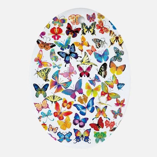 Butterflies Oval Ornament