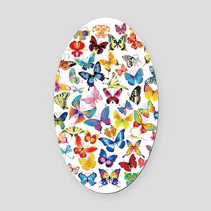 Butterflies Oval Car Magnet