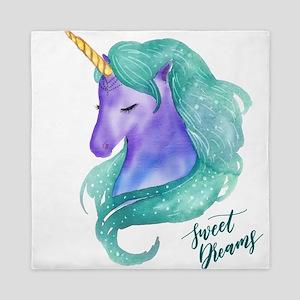 Beautiful Unicorn Sweet Dreams Queen Duvet