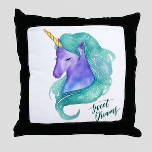 Beautiful Unicorn Sweet Dreams Throw Pillow