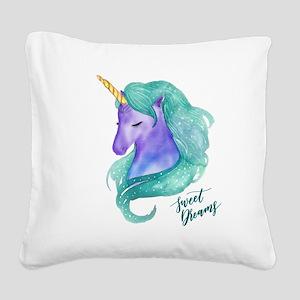 Beautiful Unicorn Sweet Dream Square Canvas Pillow