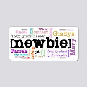 girls-names Aluminum License Plate