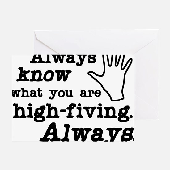 high-fiving Greeting Card