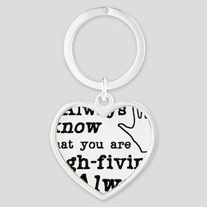 high-fiving Heart Keychain