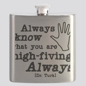 high-fiving Flask