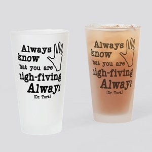high-fiving Drinking Glass