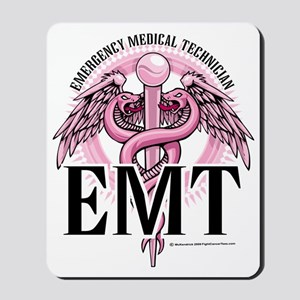 EMT-Pink-Caduceus Mousepad