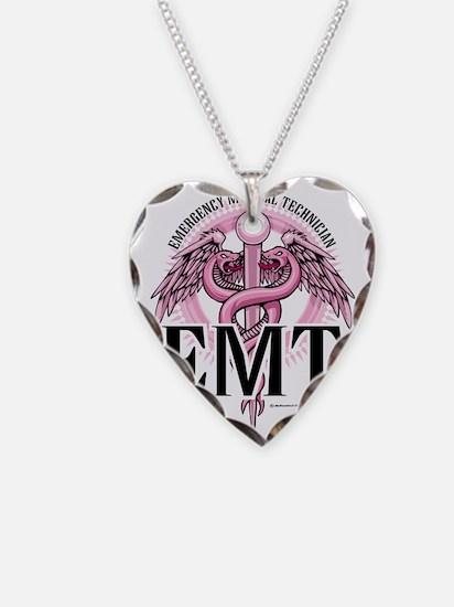 EMT-Pink-Caduceus Necklace