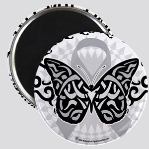 Brain-Cancer-Butterfly-Tribal Magnet