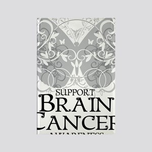 Brain-Cancer-Butterfly Rectangle Magnet