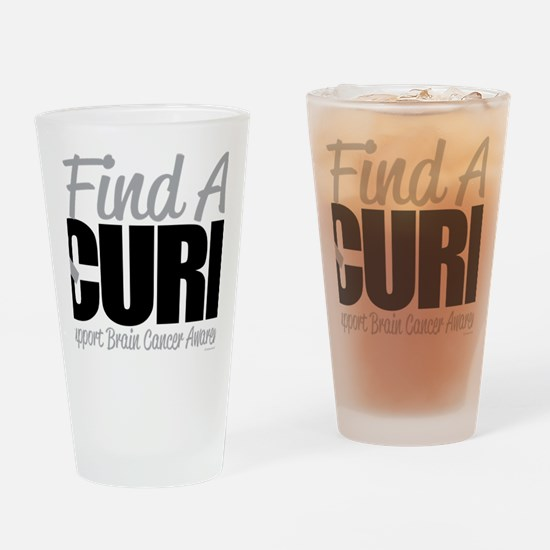 Brain-Cancer-Find-A-Cure Drinking Glass