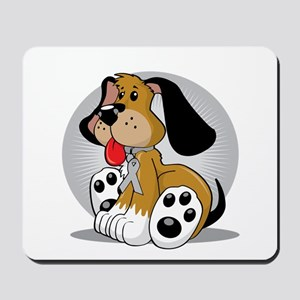 Brain-Cancer-Dog-blk Mousepad