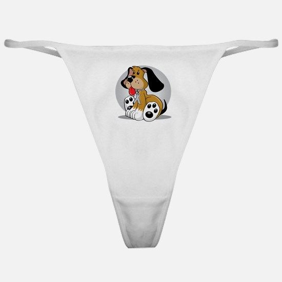 Brain-Cancer-Dog-blk Classic Thong