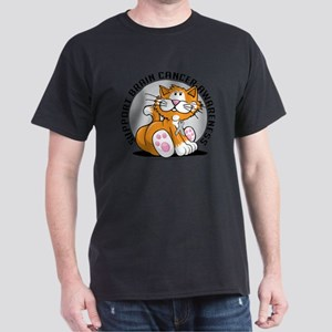 Brain-Cancer-Cat Dark T-Shirt