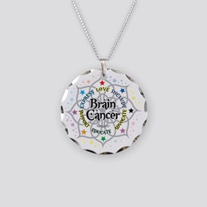 Brain-Cancer-Lotus Necklace Circle Charm
