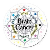 Brain cancer Round Car Magnets