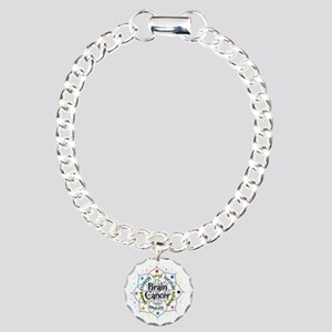 Brain-Cancer-Lotus Charm Bracelet, One Charm