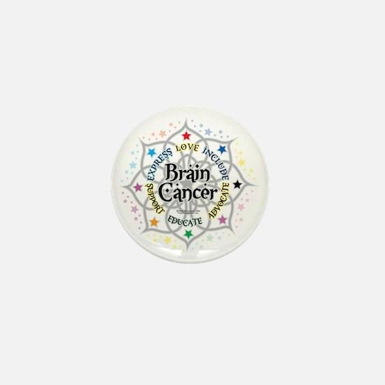 Brain-Cancer-Lotus Mini Button