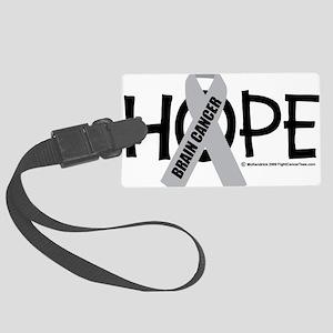 Brain-Cancer-Hope Large Luggage Tag