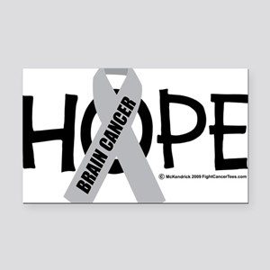 Brain-Cancer-Hope Rectangle Car Magnet