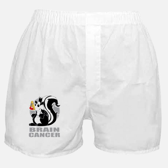Brain-Cancer-Stinks-blk Boxer Shorts