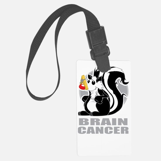 Brain-Cancer-Stinks-blk Luggage Tag