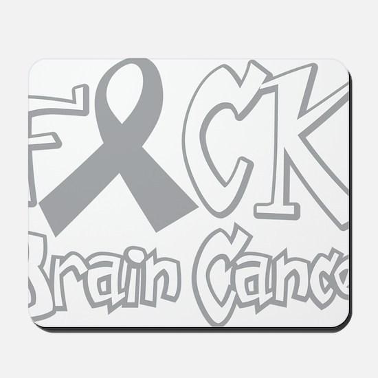 Fuck-Brain-Cancer-blk Mousepad
