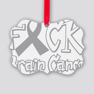 Fuck-Brain-Cancer-blk Picture Ornament