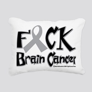Fuck-Brain-Cancer Rectangular Canvas Pillow