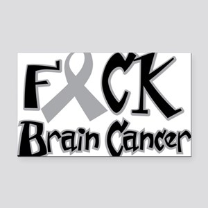 Fuck-Brain-Cancer Rectangle Car Magnet