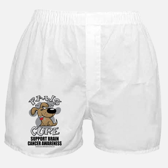 Paws-for-the-Cure-Dog-BRAIN-Cancer Boxer Shorts