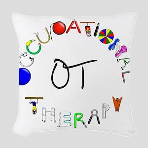 ot round Woven Throw Pillow