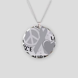 Brain-Cancer-PLC Necklace Circle Charm