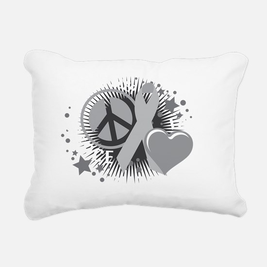Brain-Cancer-PLC-blk Rectangular Canvas Pillow