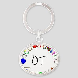 ot round Oval Keychain