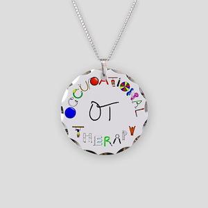 ot round Necklace Circle Charm
