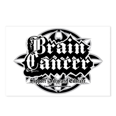 Brain-Cancer-Tribal Postcards (Package of 8)