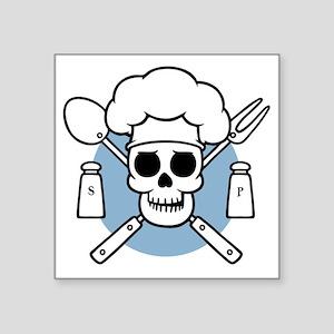 "chef-pirate-LTT Square Sticker 3"" x 3"""