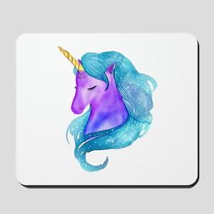 Golden Horn Unicorn Mousepad