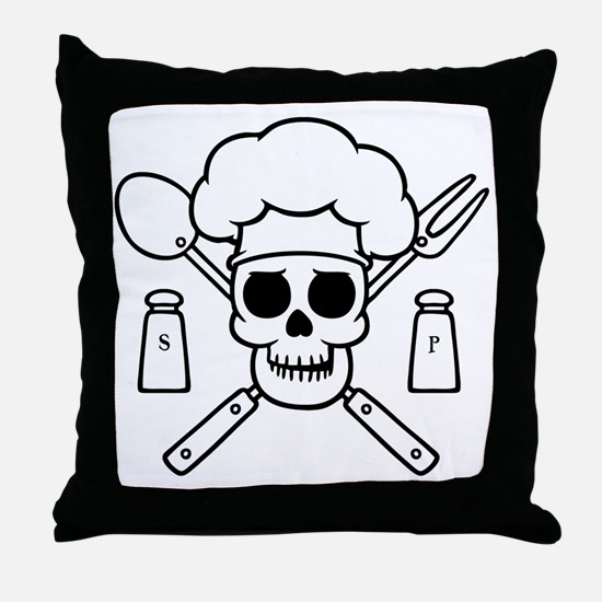 chef-pirate-T Throw Pillow