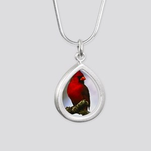 Cardinal Silver Teardrop Necklace