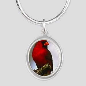 Cardinal Silver Oval Necklace