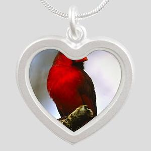 Cardinal Silver Heart Necklace