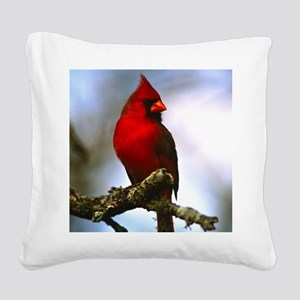 Cardinal Square Canvas Pillow