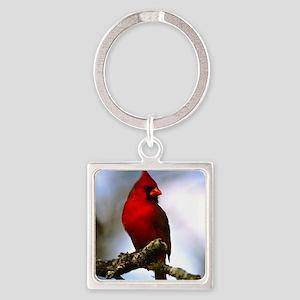Cardinal Square Keychain