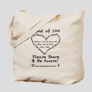 1 out of 100 black Tote Bag