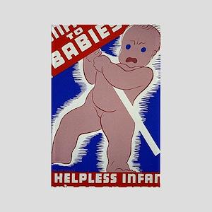 ART WPA shirt Unfair to Babies Rectangle Magnet