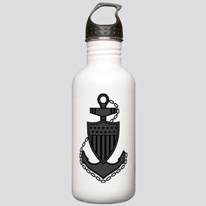 USCG-Rank-CPO-Anchor-S Stainless Water Bottle 1.0L